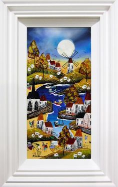 Moonlit Harbour by Rozanne Bell. Available from Artworx Gallery, Newport Shrophire. www.artworx.co.uk