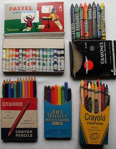 From Christian Montone's collection of vintage crayons, paints, and art supplies