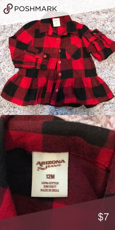 Buffalo Check flannel with ruffle So cute! Perfect for Valentine s Day or  any day! 7ab21dfef