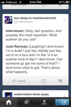 Josh Ramsay from Marianas Trench