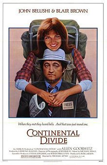 Continental Divide (film) - 1981  First film from Spielberg's production Co.... Amblin Entertainment  He was the Executive Producer