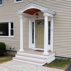 Traditional Portico (like some elements, not all) Porch Roof, Side Porch, Side Door, Porch Ceiling, Door Design, Exterior Design, Colonial Exterior, Exterior Doors, Front Door Overhang
