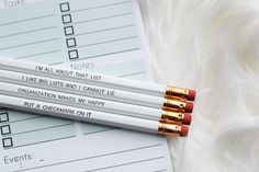 Pencil Set by ThymeIsHoney on Etsy