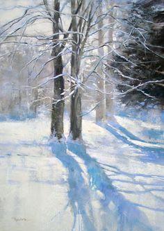 """Snowfall"" pastel by Barbara Benedetti Newton"