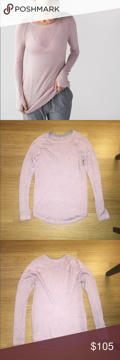 Lululemon Mink Berry Sunshine Coast LS 6 EUC Lululemon Sunshine Coast Long Sleeve Shirt in mink berry. Color is extremely rare and not sold in the U.S., hence the price premium. Size 6. Price is firm but cheaper on Mercari (@af022). Also available in other colors - check out my other listings. Gently worn and in excellent condition. Made with Boolux fabric - a blend of cashmere, TENCEL and rayon from bamboo. Incredibly soft and cozy. Thumbholes. Slim fit, hip length. No trades. Happy…