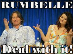 Rumbelle - Robert Carlyle and Emilie de Ravin, Paleyfest for Once Upon a Time