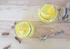 A new favourite concoction of mine. This lemon ginger tea is great for digestion and pH balance. Ginger Lemon Tea, Fruit, Drinks, Blog, Life, The Fruit