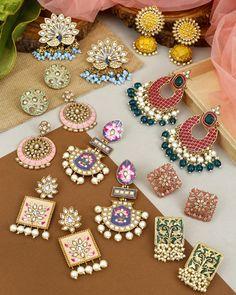 Bridal Jewellery Inspiration, Indian Bridal Jewelry Sets, Bridal Jewelry Vintage, Indian Jewelry Earrings, Silver Jewellery Indian, Jewelry Design Earrings, Ear Jewelry, Fancy Jewellery, Fashion Jewellery