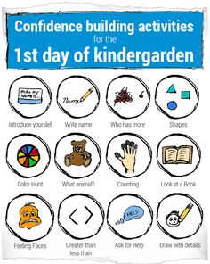 Free activities to do with your kid before they start Kinderagrten that are fun and cover the basic concepts and skills they may run into the first weeks of school.
