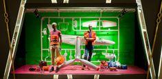 Harvey Nichols, Hong Kong, airplane model kit, pinned by Ton van der Veer
