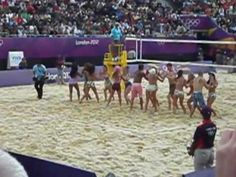 olympic beach volleyball dancers london 2012