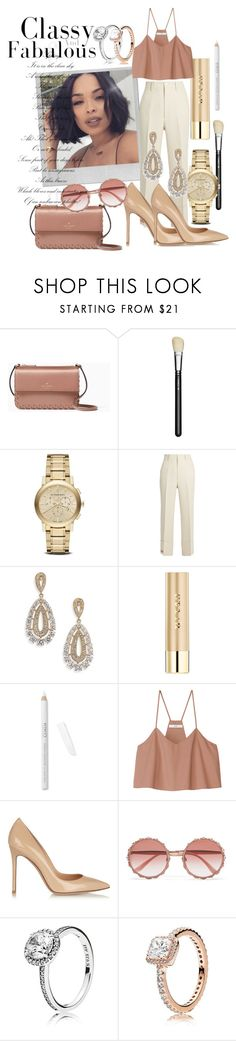 """""""Casual Elegance"""" by tamimasheille ❤ liked on Polyvore featuring Kate Spade, Polaroid, MAC Cosmetics, Burberry, Gucci, Adriana Orsini, Stila, TIBI, Gianvito Rossi and Dolce&Gabbana"""