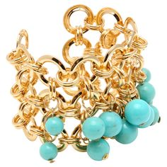 Heliomets Cuff in Amalfi Turquoise
