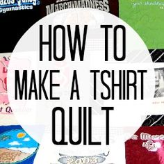 How to make a t-shirt quilt (Part C. going to make for the boys with their birthday shirts How to make a t-shirt quilt (Part C. going to… Quilting Tips, Quilting Tutorials, Quilting Projects, Sewing Projects, Sewing Ideas, Sewing Tips, Dyi, Diy Projects To Try, Crafts To Do