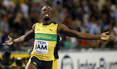 Usain Bolt.  Olympic Champion 100m & 200m.  First man to win both in back to back Olympics.