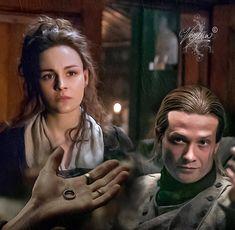 Painting of Bree and Stephen Bonnet Outlander Season 4, Outlander Casting, Outlander Series, Popular Book Series, Best Series, Tv Series, Outlander Characters, Diana Gabaldon Books, Jaime Fraser