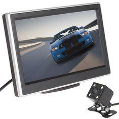 Горячая Супер Автомобиль Монитор 5 Дюймов 480x272 Пикселей TFT LCD монитор Цветной Монитор Вид Сзади Автомобиля + 420 Твл Ночного Видения камера