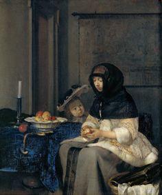 Gerard ter Borch - The Apple Peeler [c.1660]  
