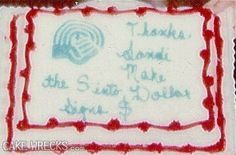 'Thanks Sandi and make the S into Dollar Signs $'. Why are cake decorators so literal these days??