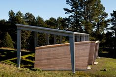 The 280-square-foot cabins impart a monastic sensibility.