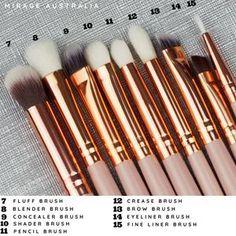 Soft and fluffy! Brow Brush, Contour Brush, Makeup Brush Set, Makeup Needs, Makeup Yourself, Rose Gold, Beauty, Cosmetology
