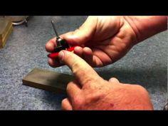 Tim Wells showing how the Lindsay template graver sharpener works. Sharpener from www.AirGraver.com