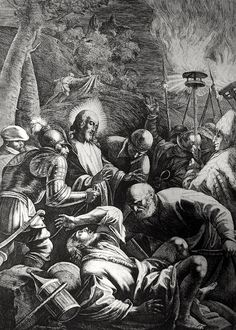 Luke in the Phillip Medhurst Collection 485 Peter smites the servant of the high priest Luke 22:47-50 after Bassano on Flickr. A print from the Phillip Medhurst Collection of Bible illustrations, published by Revd. Philip De Vere at St. George's...