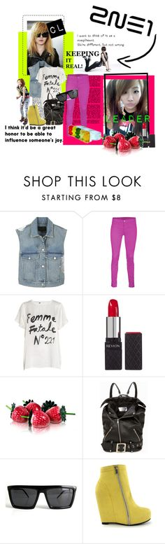 """""""Leader """"Crazy Lady"""" CL"""" by poisonivy19 ❤ liked on Polyvore featuring Alexander Wang, J Brand, 5 Preview, Revlon, Jeremy Scott, Cheap Monday and Forum"""