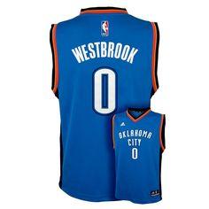Adidas Oklahoma City Thunder Russell Westbrook Jersey - Boys 8-20, Size: Medium, Blue