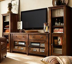 Benchwright Media Suite with Towers #potterybarn