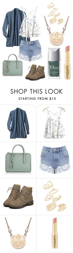 """""""Tiny cute rebel"""" by too-little ❤ liked on Polyvore featuring TravelSmith, DKNY, Miss Selfridge, Topshop, Napoleon Perdis and Christian Dior"""