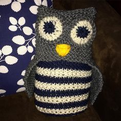 Loomed owl toy by @vanemargo