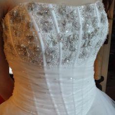 Robe de mariée MARQUE INCONNUE Blanc et gris