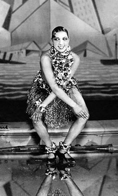 Josephine Baker dancing the Charleston at the Folies Bergere, Paris