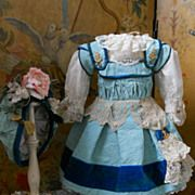 ~~~ Very Pretty French BeBe Costume  with Bonnet ~~~