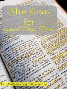 Bible verses to encourage special needs moms