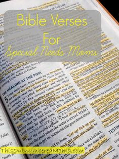Bible verses to encourage special needs moms