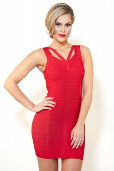 This type of red dress is always HOT!!!  V-Neck Bandage  Dress