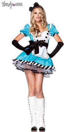 Charming Alice Costume, Alice Wonderland Costumes, Deluxe Alice Costume