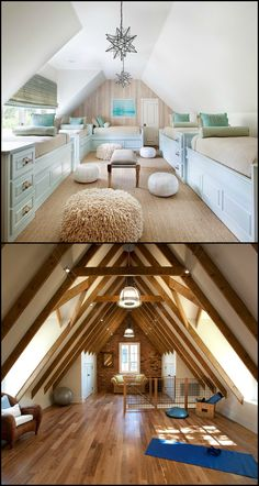 30 Beautiful Attic Design Ideas Got an attic?, 30 Beautiful Attic Design Ideas Got an attic? If you& just using it as a storage area then you might want to rethink that when you get a look at. Attic Loft, Loft Room, Bedroom Loft, Attic Office, Attic House, Attic Library, Attic Playroom, Men Bedroom, Office Desk