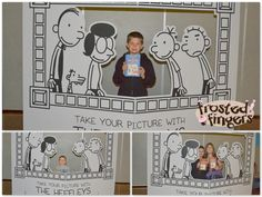 Diary of a Wimpy kid party photo idea