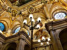 Palacio Real de Madrid. Vista de la escalera principal