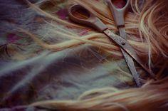 scissors hair