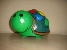 grosse Schildkröte-Geldgeschenk-Sparkröte-individuelle Gestaltung- stehend - BOX