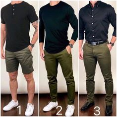 I like to take a color combo that works well and use it in a lot of different ways.from shorts, casual, to dressier outfits. Which style… Summer Outfits Men, Stylish Mens Outfits, Men Summer, Mens Casual Dress Clothes, Men Clothes, Mens Summer Shorts, Outfits For Men, Men Shorts, Simple Outfits