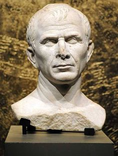 The oldest representation of Julius Caesar was in the form of a bust. Busts would become typical methods of representation among the Roman aristocracy and future Emperors. Ancient Rome, Ancient Art, Ancient History, Roman History, Art History, Statues, Art Romain, Roman Sculpture, Julius Caesar