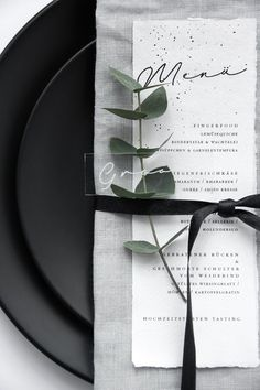 So love this white menu placed on gray napkin wedding table settings with greenery, wedding tableware, The Effective Pictures We Offer You About wedding table decorations romantic A quality picture ca Trendy Wedding, Diy Wedding, Dream Wedding, Wedding Foods, Modern Wedding Ideas, Black Wedding Decor, Modern Wedding Decorations, Wedding Parties, Modern Wedding Reception