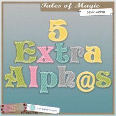 Tales Of Magic, Extra Alphas #plaindigitalwrapper #pdw #scrapbook #digital #digitalscrapbook #designs #photo #photobook @alphabet @alpha #designsbyromajo