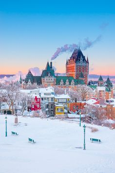 Experience the ULTIMATE snowy winter vacation in Quebec City, Canada with these 10 unforgettable winter activities you can do in Quebec City! Here are all the best things to do in Quebec City in the winter! Fotos Do Canada, Rocky Mountains, Places To Travel, Places To See, Quebec City, Travel Aesthetic, Canada Travel, Dream Vacations, Kayaking