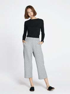 08d6d3898c0d Jaleesa Classic Culottes - Light Gray - Pomelo Fashion